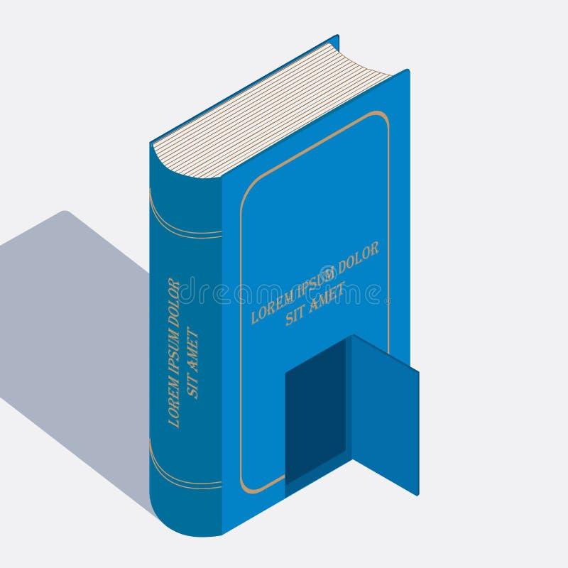 Isometrisk bild för bok Fulcolor designeelevrnt royaltyfri illustrationer