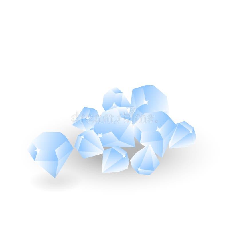 Isometrisk enkel vektor för diamant vektor illustrationer
