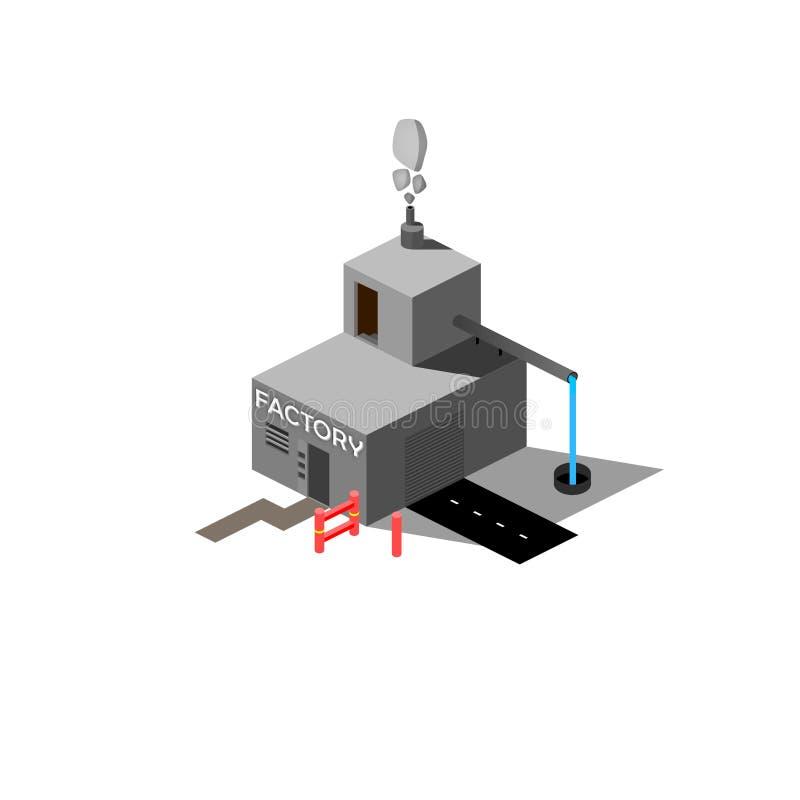 Isometrisk fabriksbild/vektor arkivfoton