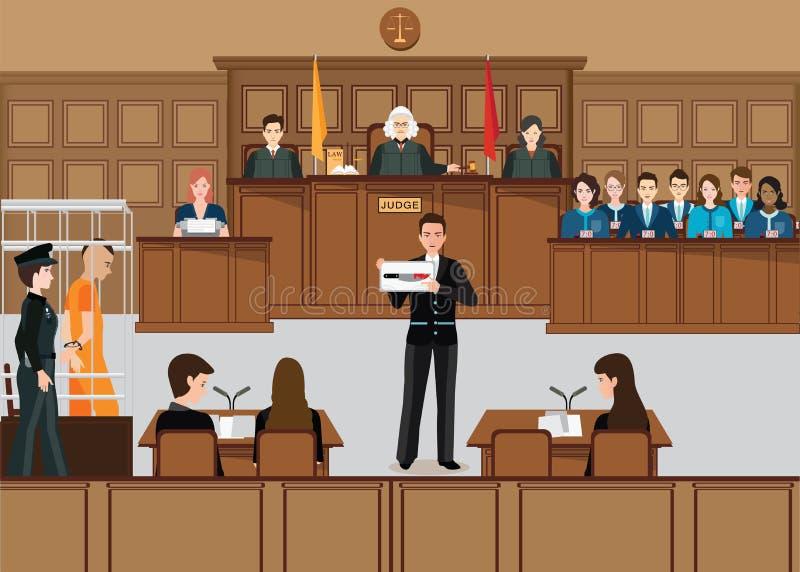 Isometrisk folkrättsväsenuppsättning vektor illustrationer