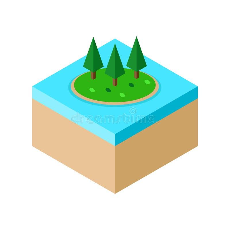 Isometrisk illustration för ölandcapevektor vektor illustrationer