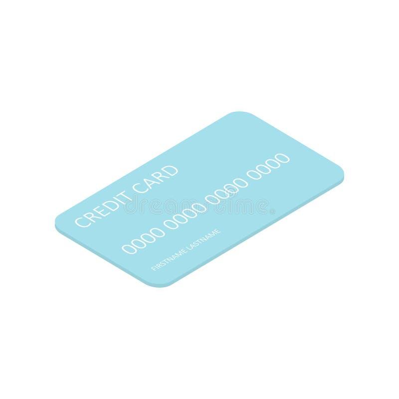 Isometrisk kreditkort stock illustrationer