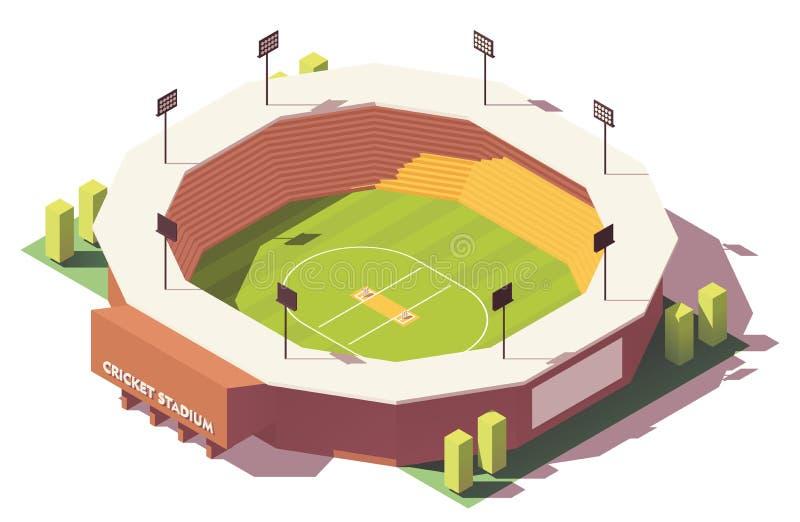 Isometrisk låg poly syrsastadion för vektor stock illustrationer