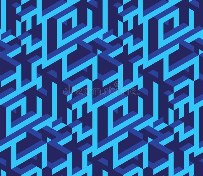 Isometrisk labirynthmodell vektor illustrationer