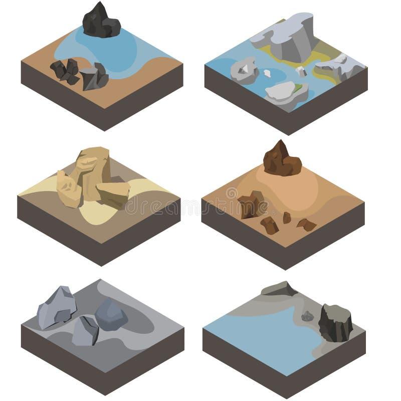 isometrisk landskapdesign vektor illustrationer