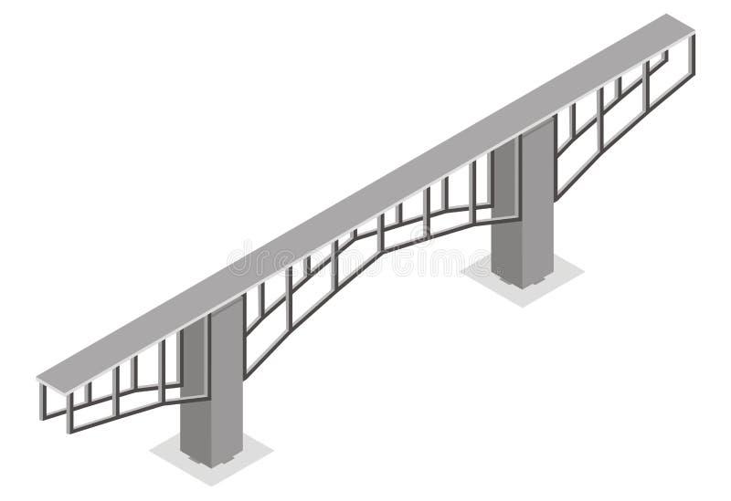 Download Isometrisk sikt för bro stock illustrationer. Illustration av isometriskt - 19781055