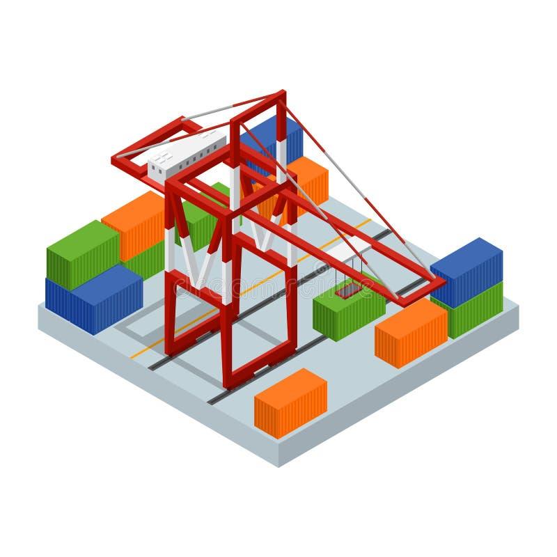 Isometrisk sikt för logistisk serviceaffärsidé vektor royaltyfri illustrationer