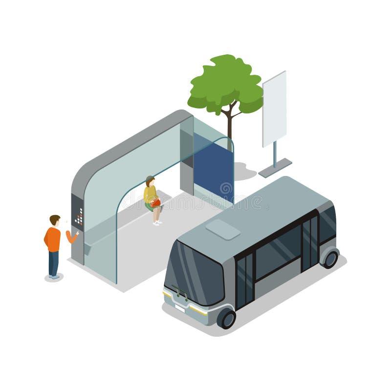 Isometrisk symbol 3D för anslutningshållplats stock illustrationer