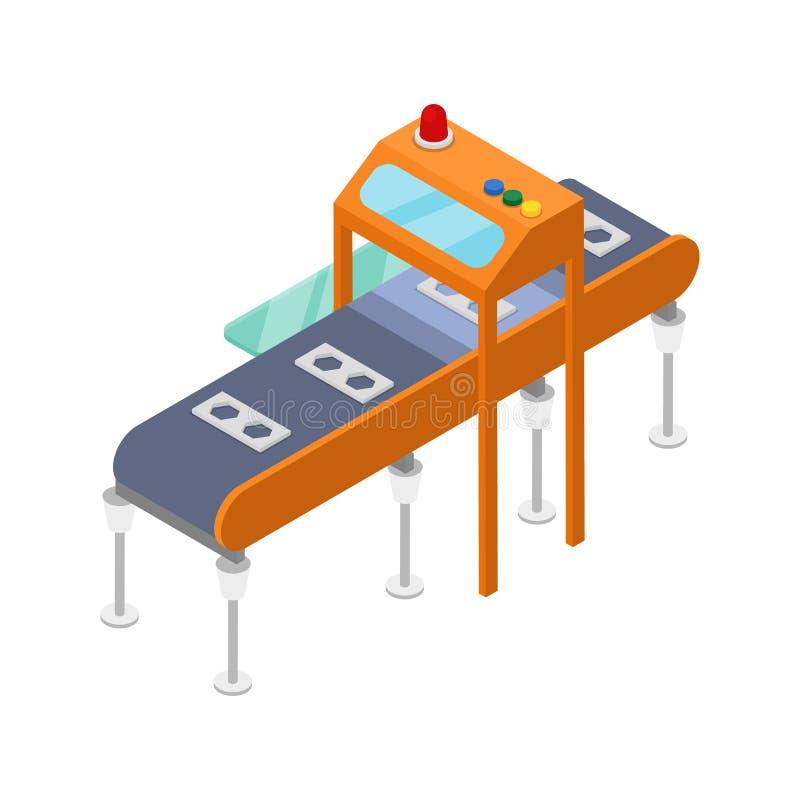 Isometrisk symbol 3D för modern monteringsband vektor illustrationer