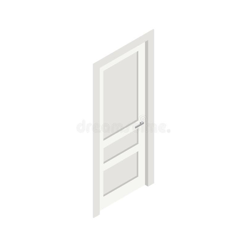 Isometrisk symbol för dörr arkivbild