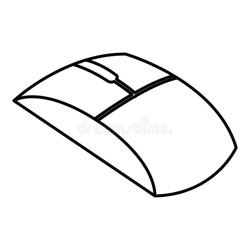 Isometrisk symbol för datormus vektor illustrationer