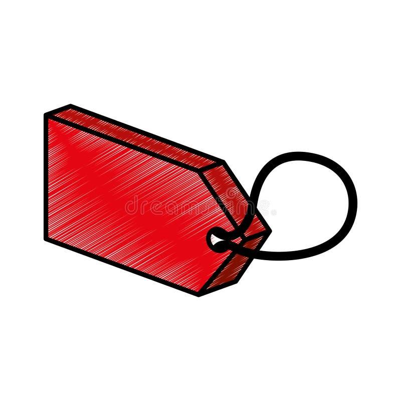 Isometrisk symbol för kommersiell etikett vektor illustrationer