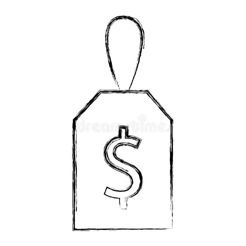 Isometrisk symbol för kommersiell etikett royaltyfri illustrationer