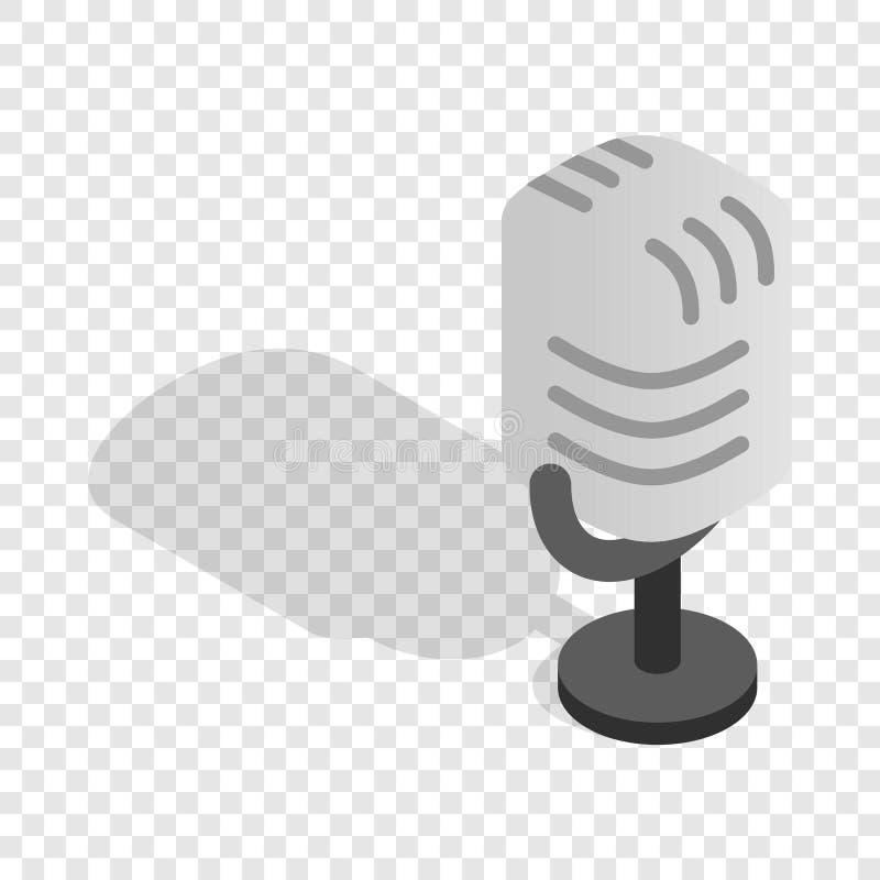 Isometrisk symbol för Retro mikrofon royaltyfri illustrationer