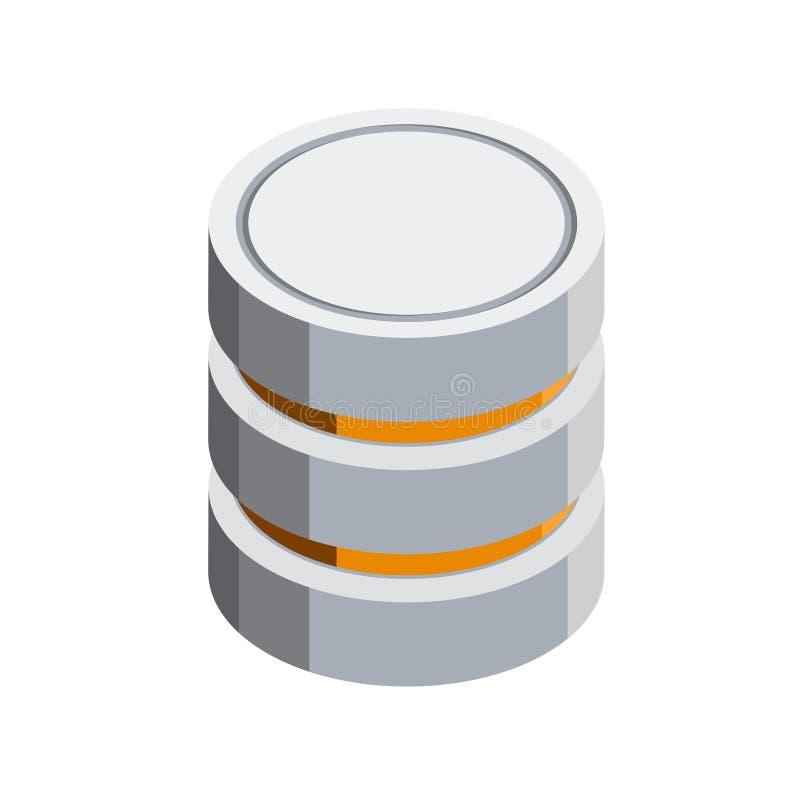 Isometrisk symbol för server 3D vektor illustrationer