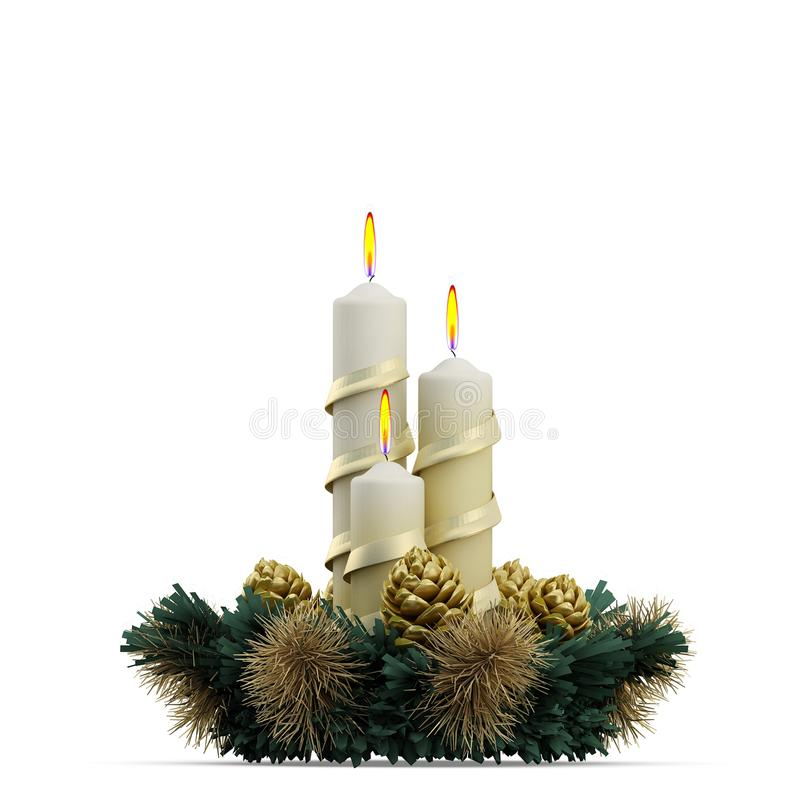 Isometrisk tolkning för julferie 3D arkivbild