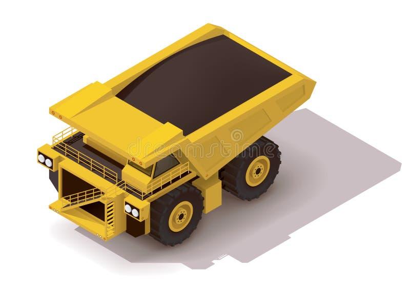 Isometrisk transportsträckalastbil för vektor vektor illustrationer