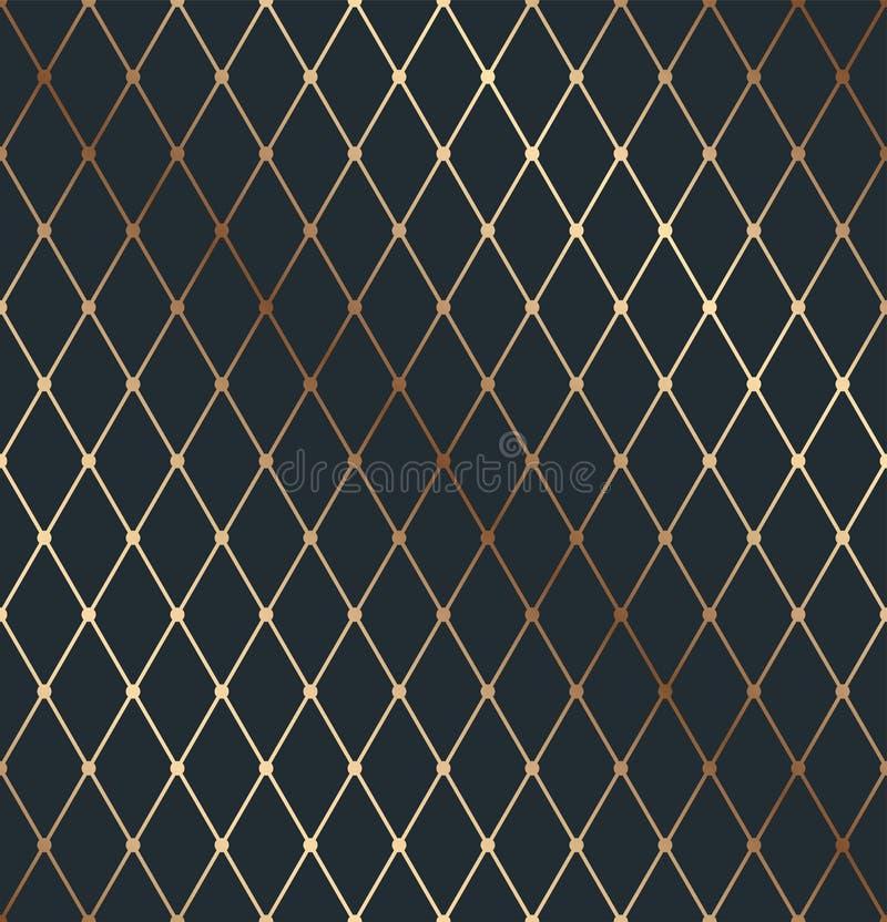 Isometrisk tunn linje texturmodell för guld- geometri stock illustrationer