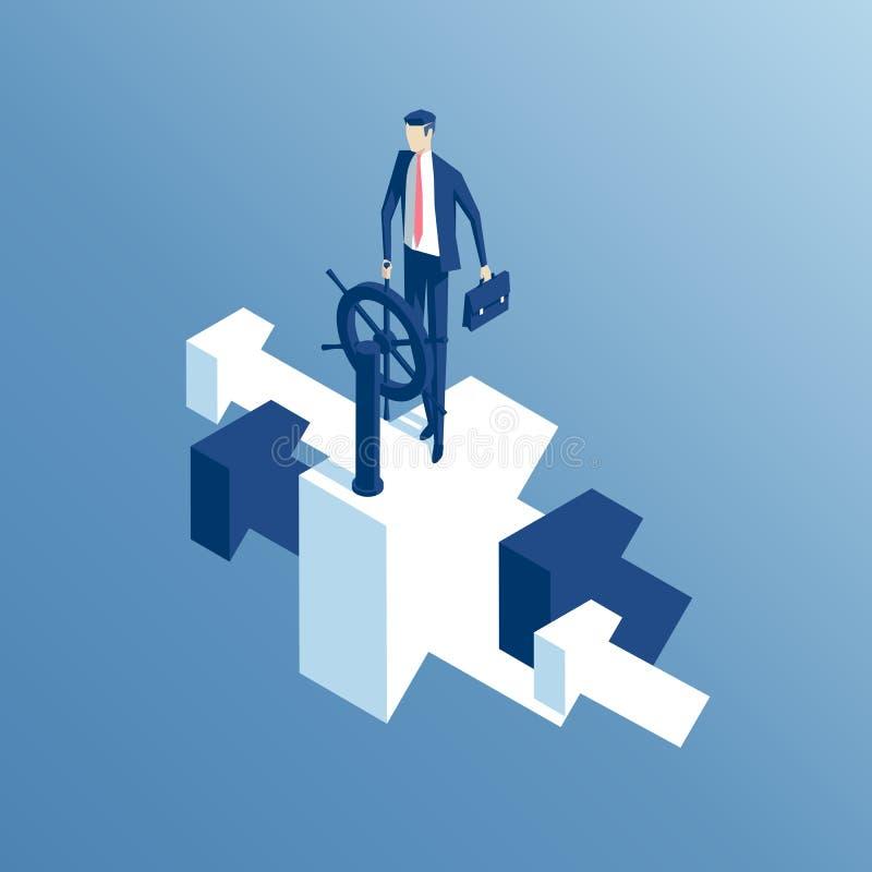 Isometriska anställd och pilar vektor illustrationer