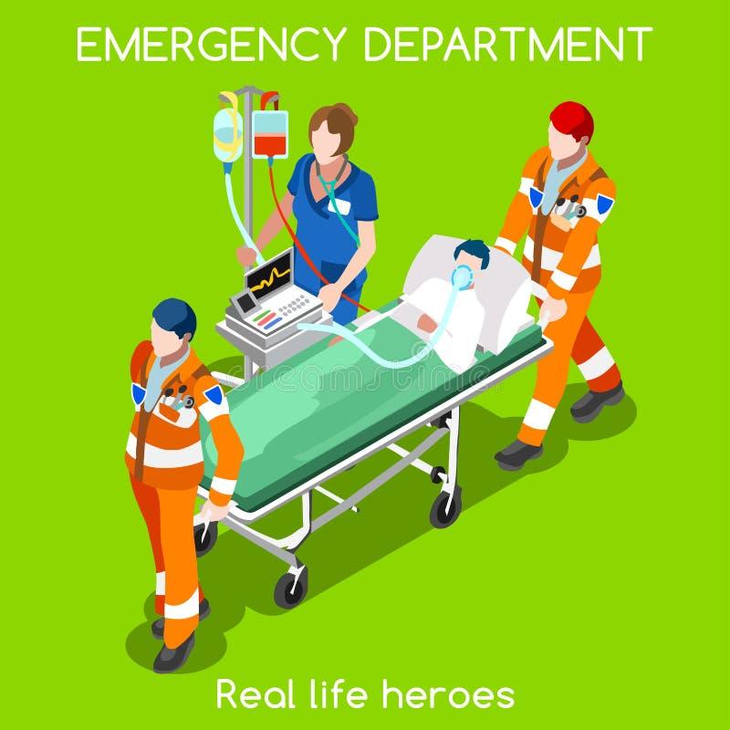 Isometriska personer för sjukhus 22 royaltyfri illustrationer