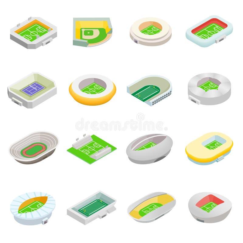 Isometriska symboler 3d för stadion vektor illustrationer