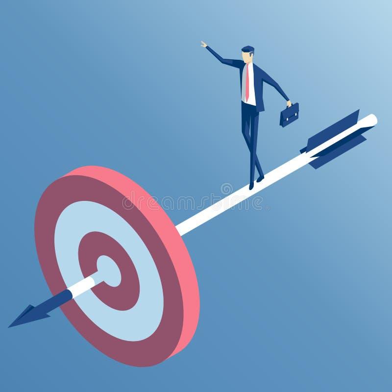 Isometriskt affärsman och mål vektor illustrationer