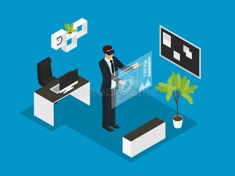 Isometriskt begrepp för affärsfolk vektor illustrationer