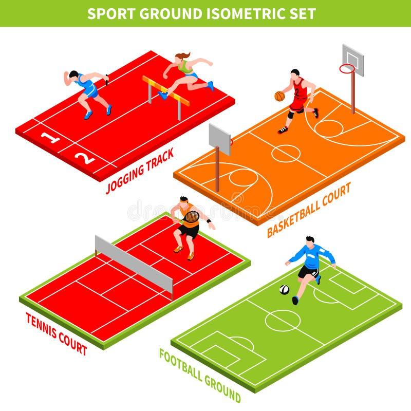 Isometriskt begrepp för sport vektor illustrationer