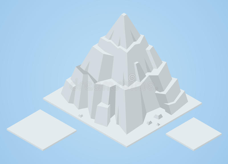 Isometriskt isberg stock illustrationer