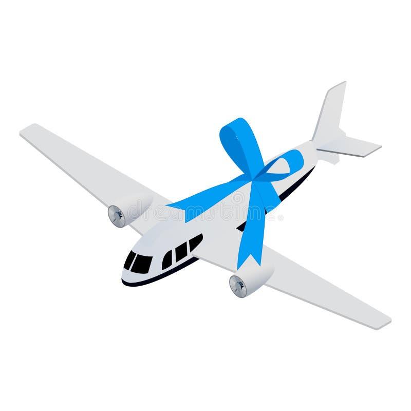 Isometriskt leksakflygplan vektor illustrationer