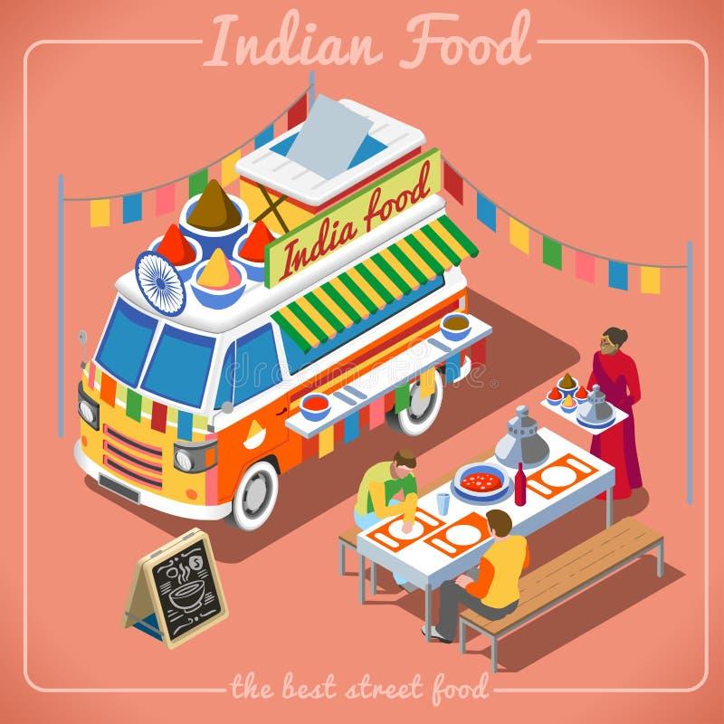 Isometriskt medel för matlastbil 02 royaltyfri illustrationer