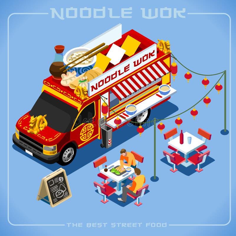 Isometriskt medel för matlastbil 08 vektor illustrationer
