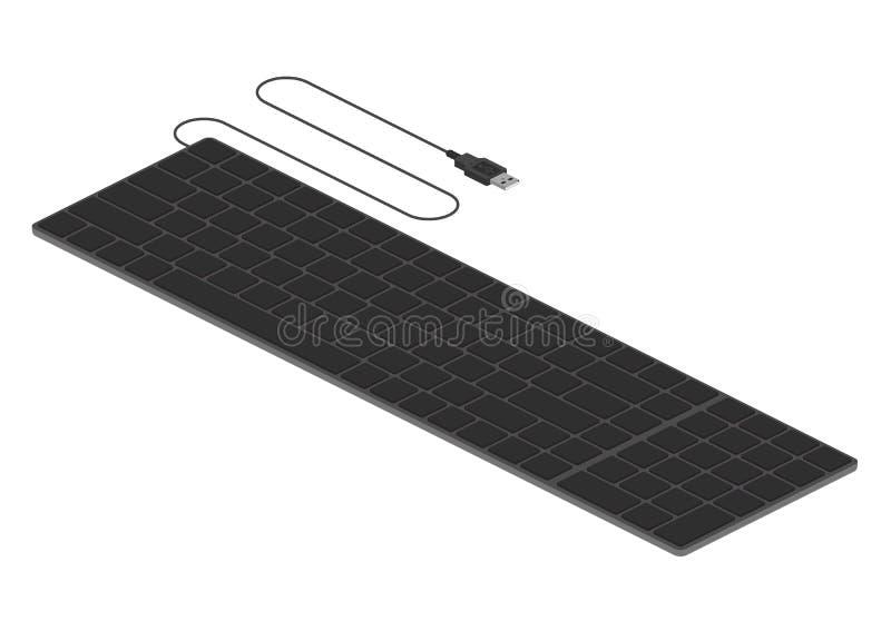 Isometriskt tangentbord royaltyfri illustrationer