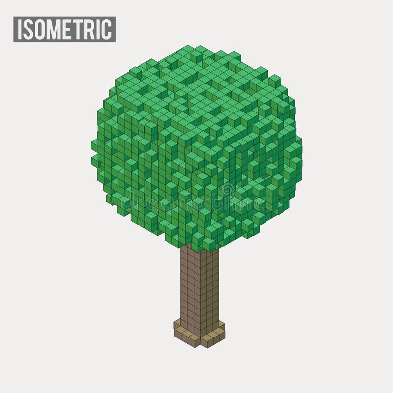 Isometriskt träd vektor illustrationer