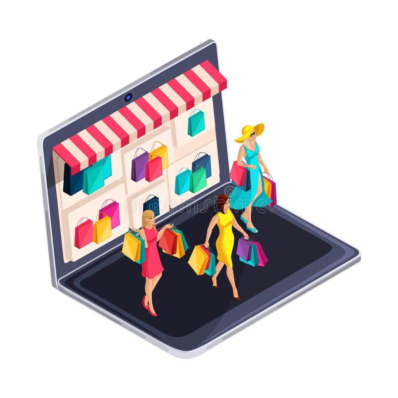 Ragazze alla moda illustrazione vettoriale illustrazione for Acquisti online casa