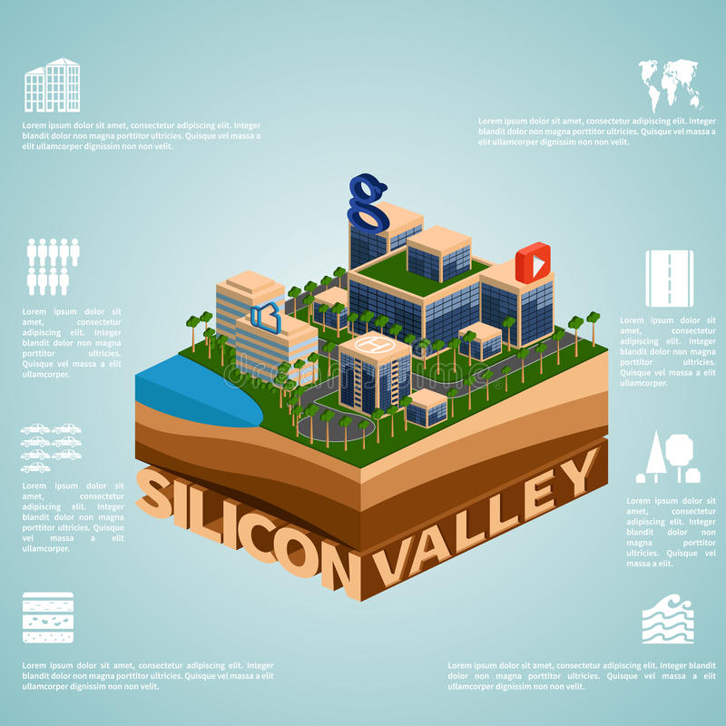 Free Isometry Silicon Valley Royalty Free Stock Photo - 51705475