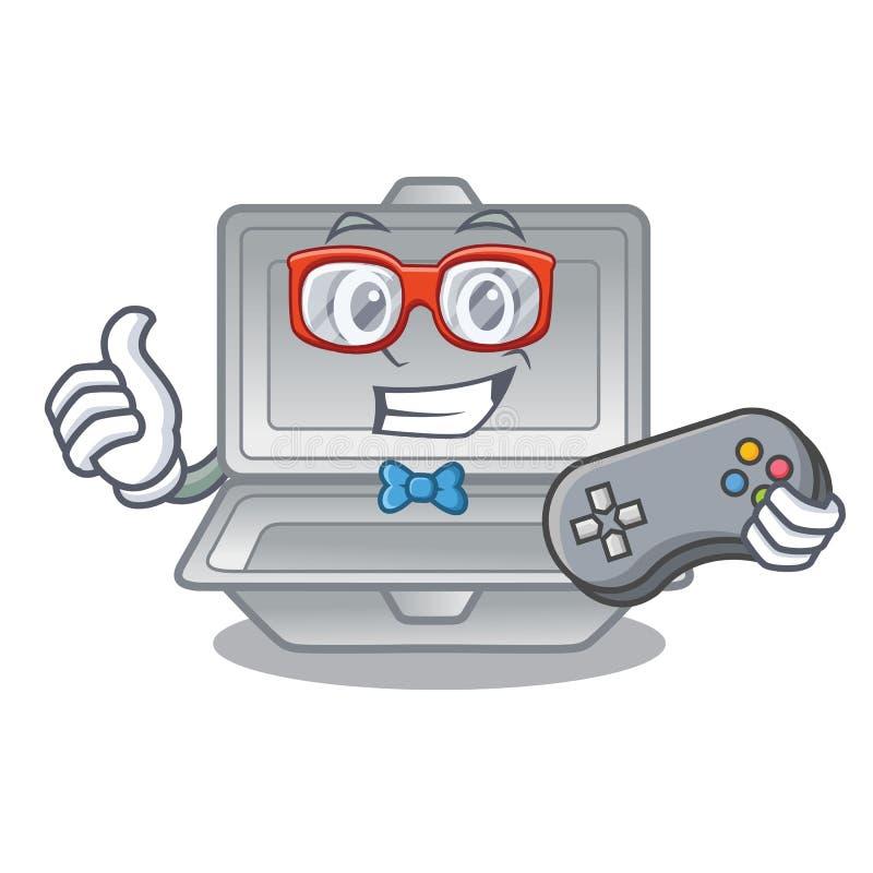 Isopor aberto do Gamer na caixa de caráter ilustração do vetor