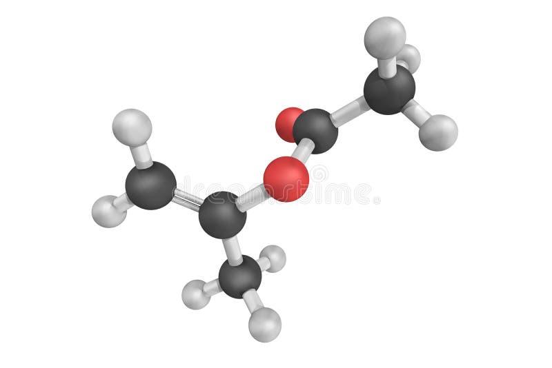 Isopropenylacetaat, een organische verbinding, die de acetaat e is stock afbeeldingen
