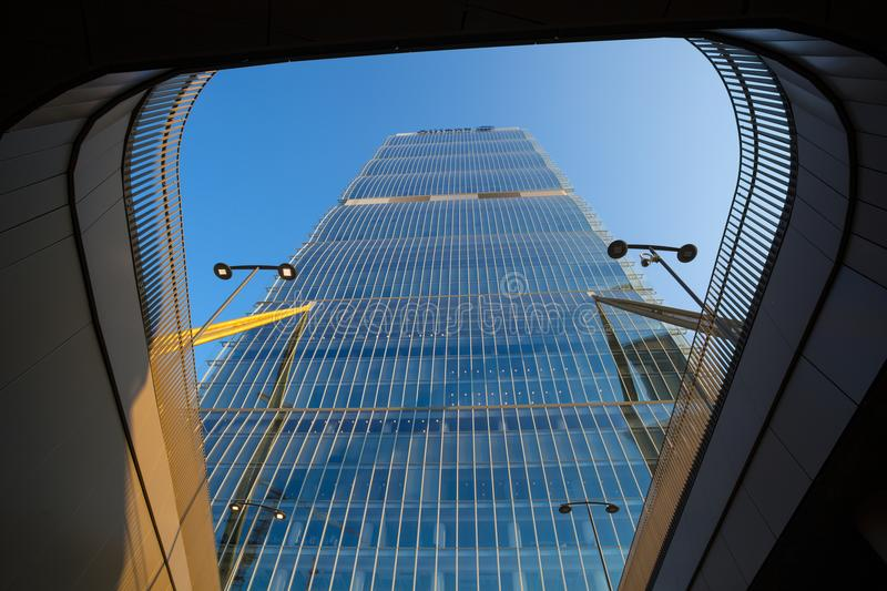 Isozaki Tower in `City Life` complex in 3 Torri Milan place, modern buildings and condos, Italy. stock photography
