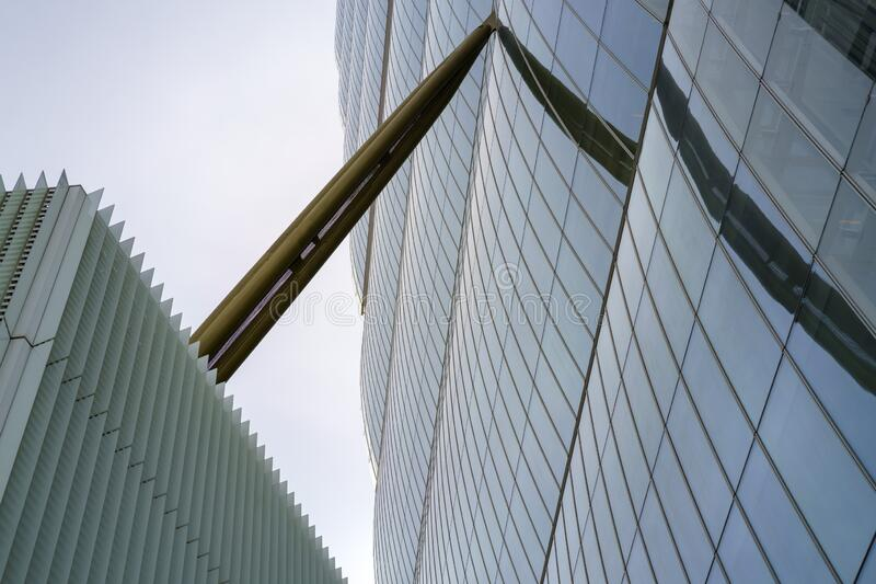 Isozaki tower at Citylife, Milan stock images