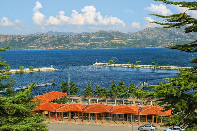 Isparta`s tourism centre is Egirdir. The paradise of alternative tourism for these features. A small and cosy town that keeps some cold in the hot summer in stock photos