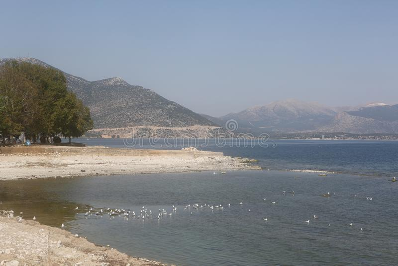 A view of Egirdir Lake in Isparta, Turkey. royalty free stock image