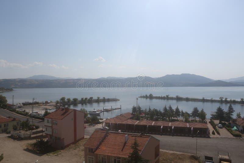 A view of Egirdir Lake in Isparta, Turkey. stock photos