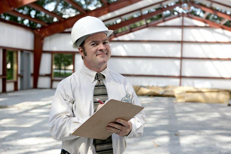 Ispettore della costruzione - soddisfatto fotografie stock libere da diritti