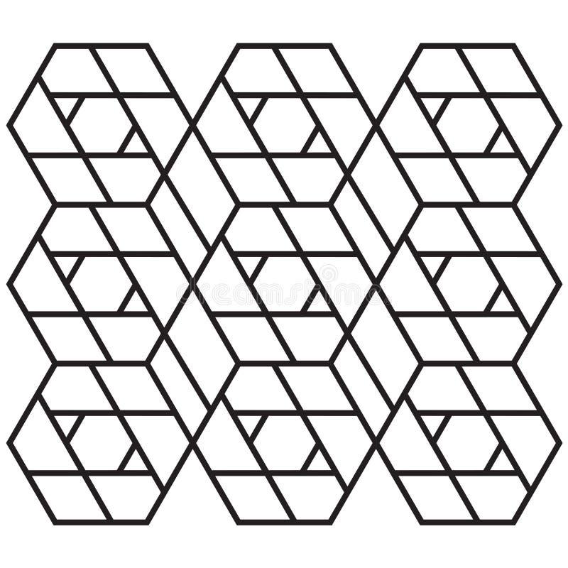 Ispirazione astratta di progettazione geometrica per il taglio del laser fotografia stock