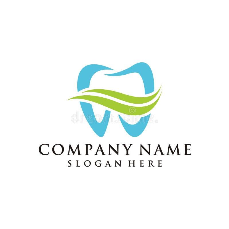 Ispirazione dentaria di progettazione di logo illustrazione di stock