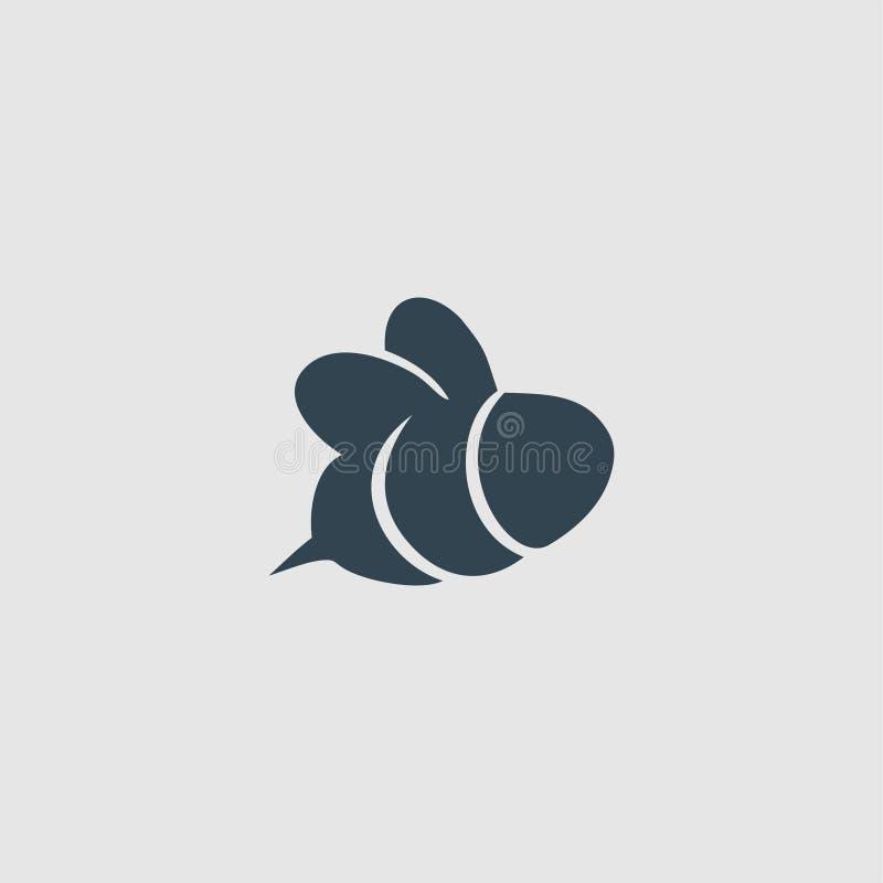 Ispirazione di logo di progettazione del monogramma dell'ape del miele illustrazione di stock