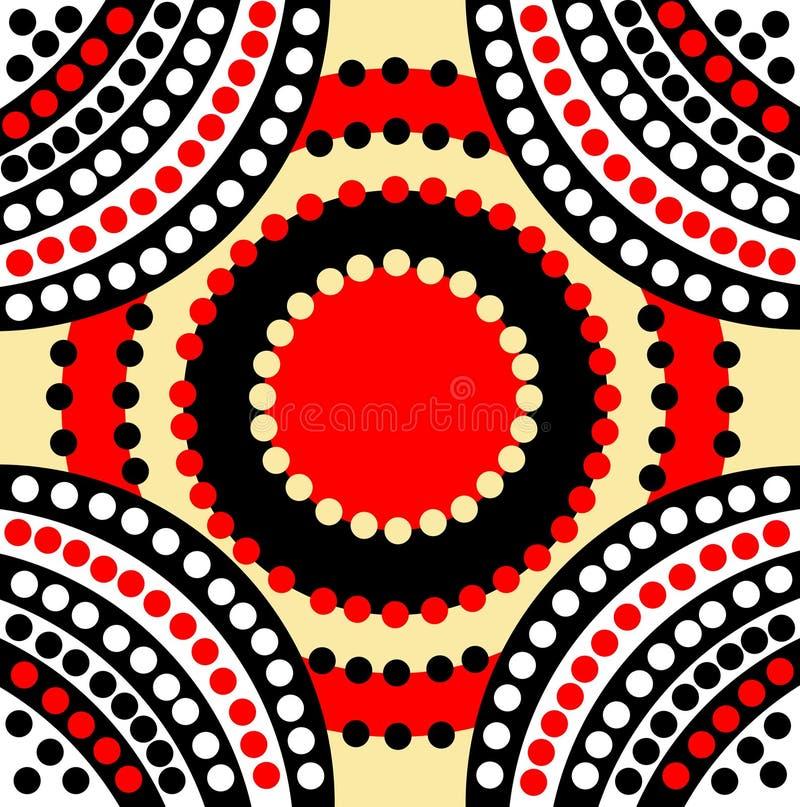 Ispirazione di sogno calma di arte del puntino illustrazione di stock