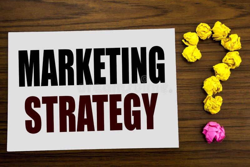 Ispirazione di titolo del testo di scrittura della mano che mostra strategia di marketing Concetto di affari per il piano di Digi immagine stock libera da diritti