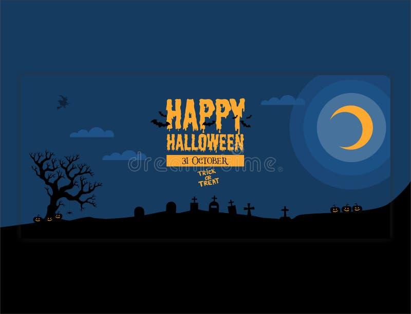 Ispirazione felice di progettazione di Halloween dell'insegna royalty illustrazione gratis